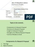 Academic reading & Writing - Research Proposal 2
