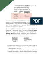 Propuesta de Intervención de Gestión Integral del Riesgo en épocas de lluvias en el departamento del Cusco