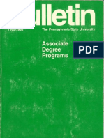 PSU 2YearDegreePrgrms&CrsDscrptns 1986