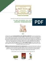 Nibble Nursery - Rabbit Care - Food