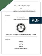 Sem 7- Criminilogy Law Project- Juvenile Justice Bill, 2014.docx