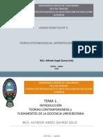 TEMA 1 EPISTEMOLOGIA, ANTROPOLOGIA 2020-