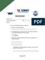 Grammar Examination 6th Grade ( fifth Term)