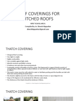 COURSE MATERIAL FOR ROOF COVERINGS FOR PITCHED ROOFS