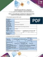 Guía de actividades y rúbrica de evaluación - Tarea 2 - Diligenciar cuadros de análisis sobre conceptos principales de la unidad.-1