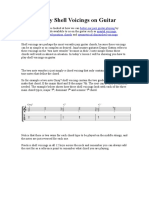 How to Play Shell Voicings on Guitar