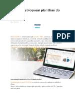Como desbloquear planilhas do Excel