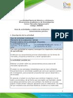 Guia de actividades y Ruubrica de evaluación - Fase 1 - Conocimientos previos