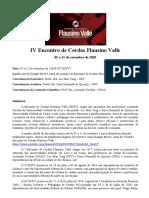 Cronograma-Regulamento IV ECFV