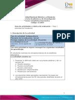 Guia de actividades y Rúbrica de evaluación -Fase - 1 - Actividad de Presaberes