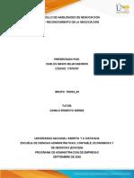 Fase 1 -Reconocimiento de la negociación - Carlos Milian