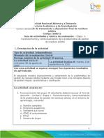Guia de actividades y Rúbrica de evaluación - Unidad 1 -Etapa 1- Reconocimiento y contextualización de problemática de g