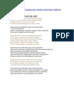 TRADUCCIÓN AL AYMARA DEL POEMA 2O DE PABLO NERUDA