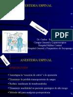 anestesia espinal USAM