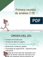 PRIMERA REUNIÓN DE CTE ANÁLISIS