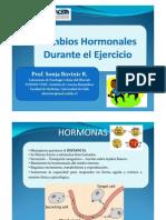 cambios hormonales durante el ejercicio