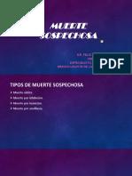 Tanatología Forense II (Muerte sospechosa)