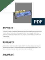 Lingua inglesa estrutura básica - período simples