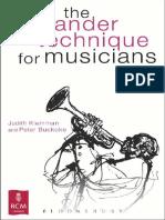 The Alexander Technique+for+Musicians+by+Judith+Kleinman,+Peter+Buckoke