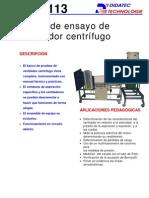 Banco de Ensayo de Ventilador Centrifugo VEA113
