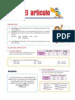 TEMA 3 - EL ARTÍCULO