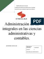 Aplicación de las integrales en la administración