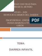 DIARREA INFANTIL - ENFERMERA DIANA MARCELA- PROGRAMA MODALIDAD 1000 DIAS PARA CAMBIAR EL MUNDO