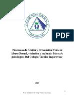 Protocolo de Acción y Prevención frente al Abuso Sexual