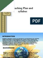 Teaching Plan and syllabus