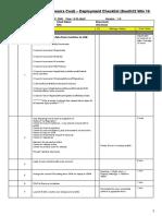 Win 10 Deploy Checklist
