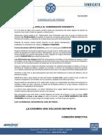 Comunicado de Prensa AOITA 06-09