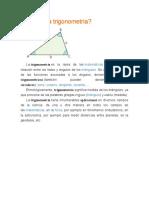 Qué es la trigonometría