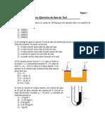 Hidrostática - Item de Test