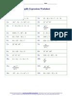 Manuipulation of Algebraic Expressions 1
