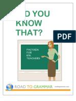 Factoids for ESL Teachers
