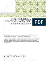Control de la contaminacion de aire extrerno