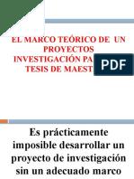 Marco teórico de proyecto de tesis de maestría UDFJC