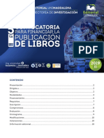 5da Convocatoria Publicacion de Libros - 2019 II
