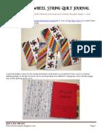 Double Pinwheel String Quilt Journal Tutorial