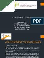 LOS INTERESES VOCACIONALES