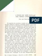 Neves - A noção de arte popular - uma crítica antropologica 1977