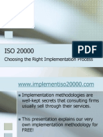 ISO 20000 - Choosing the Right Implementation Process