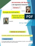 SEM 07- FACTORES QUE AFECTAN LA VELOCIDAD DE REACCION