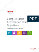 CompTIA Cloud+ Certification Exam Objectives