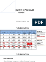 Specific Supply Chain Issues - CEMENT