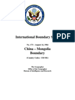 China - Mongolia Boundary