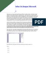 Membuat Daftar Isi dengan Microsoft Word