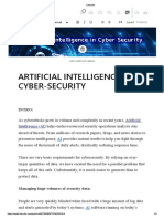 ARTIFICIAL INTELLIGENCE IN CYBER-SECURITY
