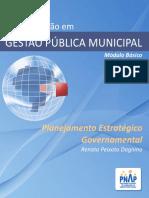 LIVRO - PNAP - UNIDADE 1 - Planejamento Estrategico Governamental
