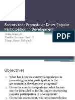 PublicA - Factors that Promote or Deter Popular Participation in Development